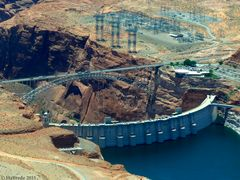 Staudamm am Colorado River in Glen Canyon 2