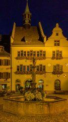 Staufen  Rathaus bei Nacht