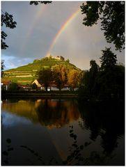 Staufener Burg mit Regenbogen, zweites Bild