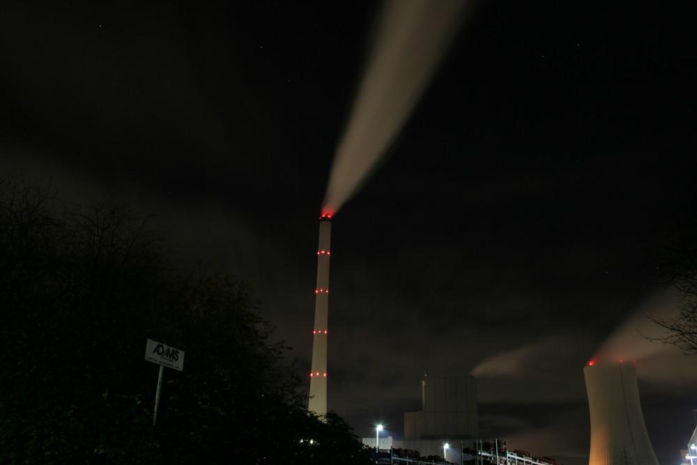 STEAG Heizkraftwerk Herne bei Nacht