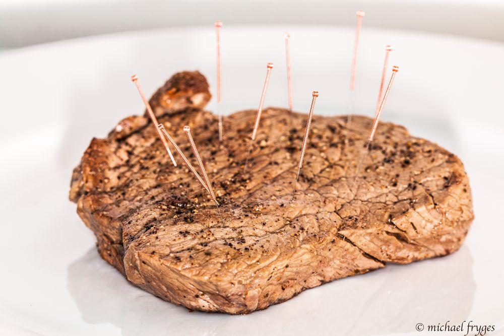 Steak beim Heilpraktiker.............
