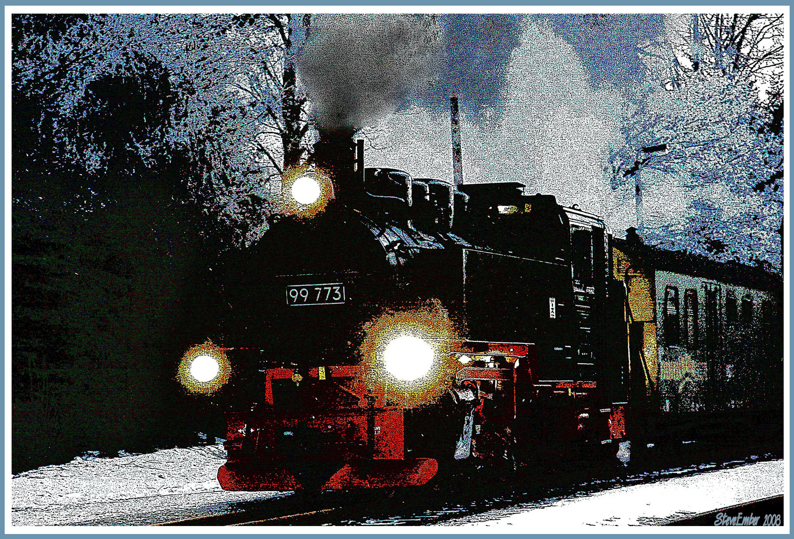 Steam in the Snow
