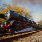 Steam train as an oil painting / Dampfzug in Öl
