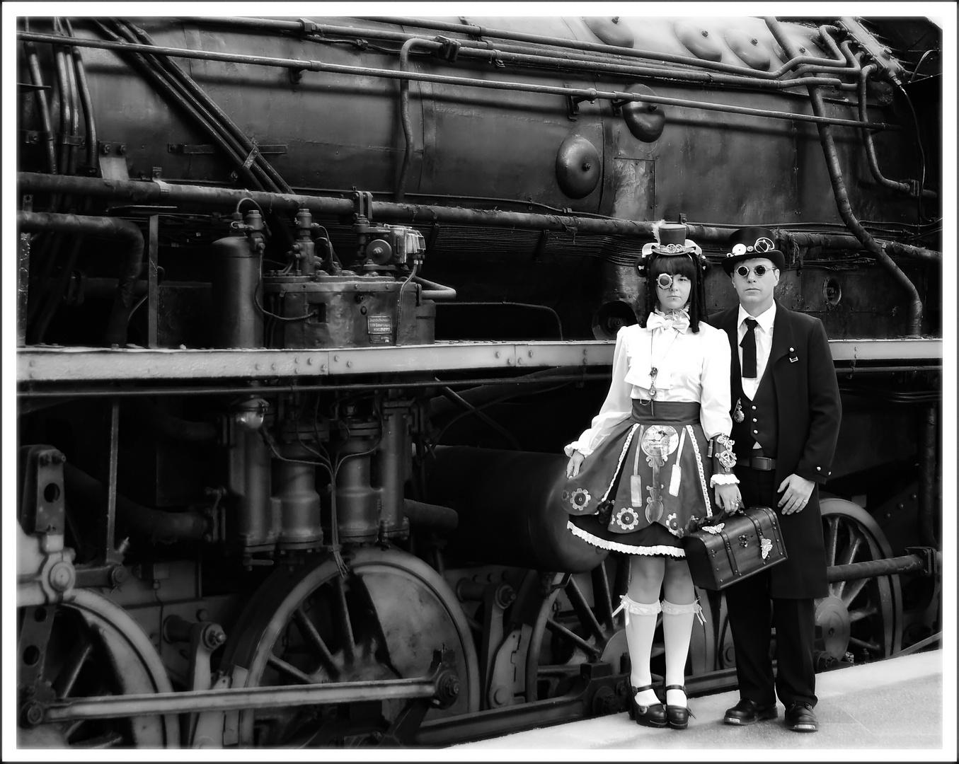 Steampunk Bahnhof Leipzig WGT
