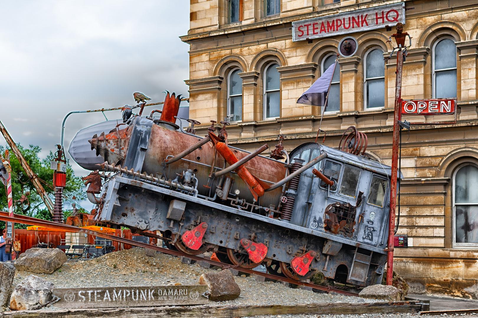 Steampunk Headquarter in Oamaru (NZL)