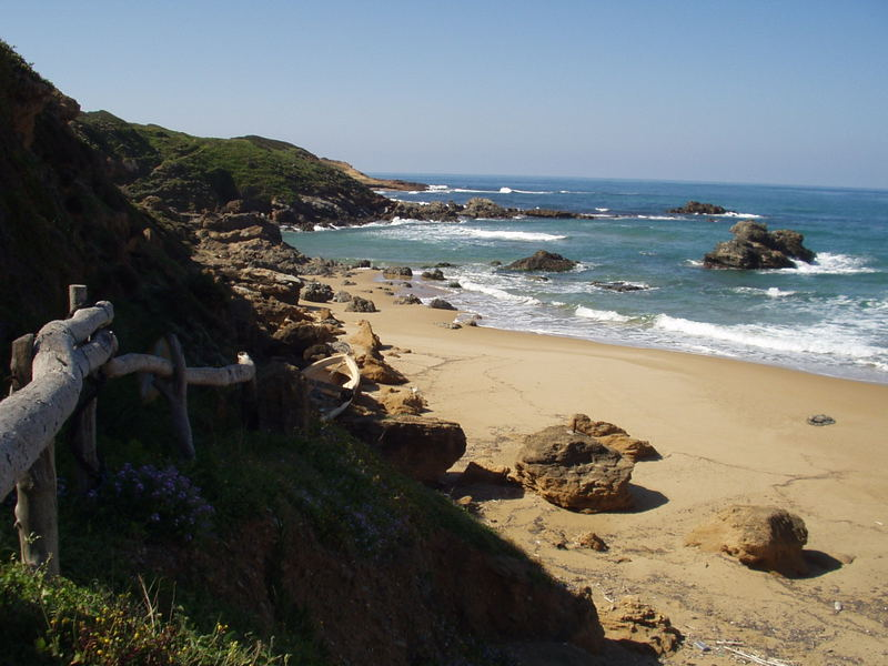 steccato con spiaggia