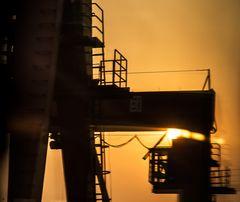 steel in the morning sun