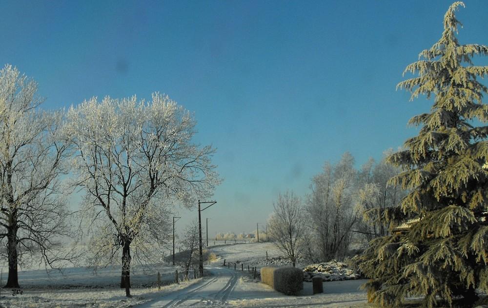 Steenkerque sous la neige