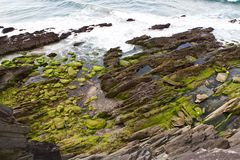 steep rocks