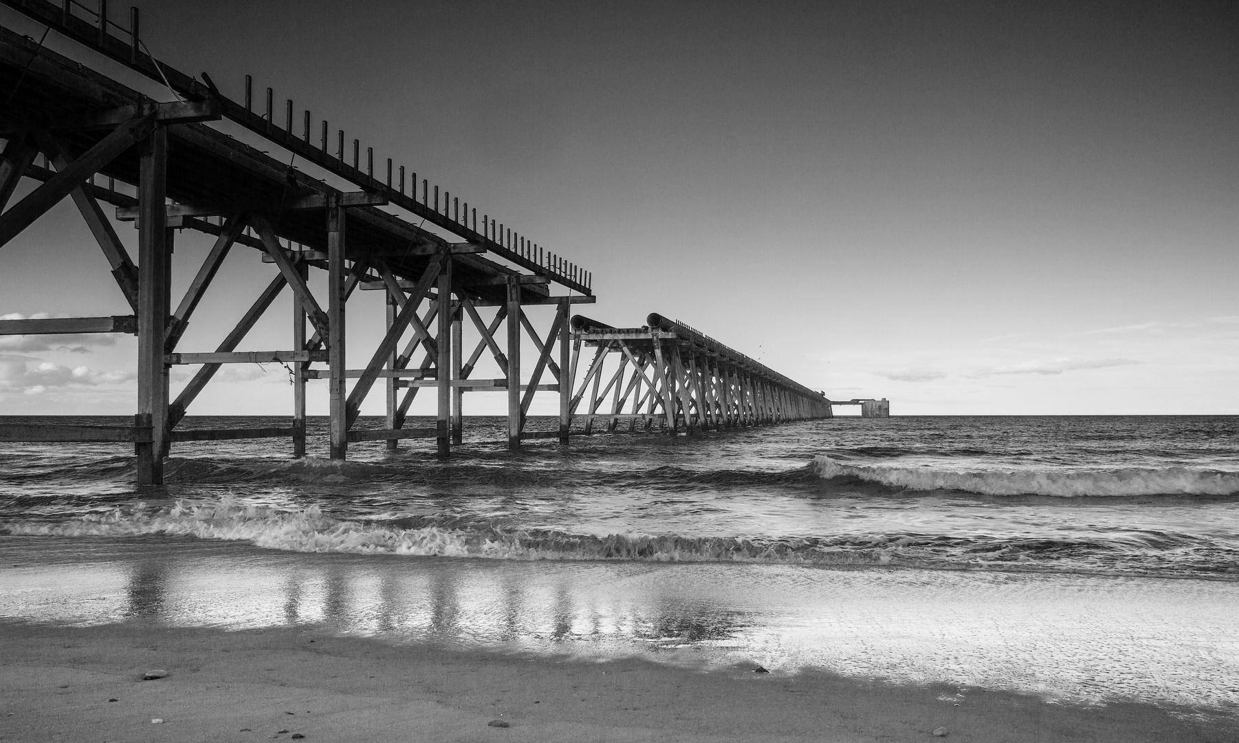 Steetley pier on the North East coast