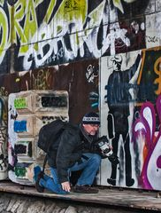 Stefan als Graffitifotograf!