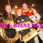 Stefan Raab, Lucy Diakovska, Timo Scheider bei der TV Total Stock Car Crash Challenge 2010