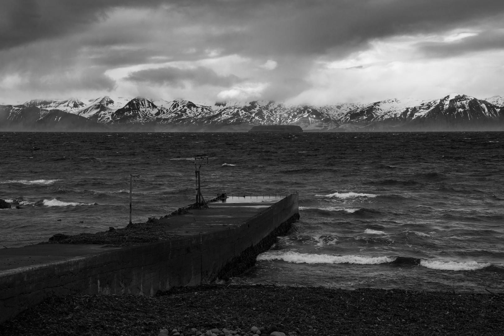Steg für Fischerboote im Norden