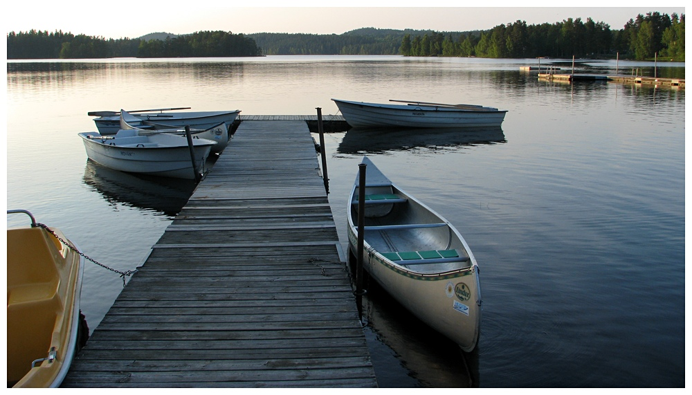 Steg mit Booten