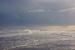 Steife Brise über dem Meer vor Wangerooge
