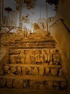 Steile Treppe von Paguera
