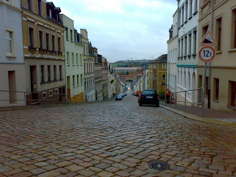 """Steile Wand"" in Meerane"