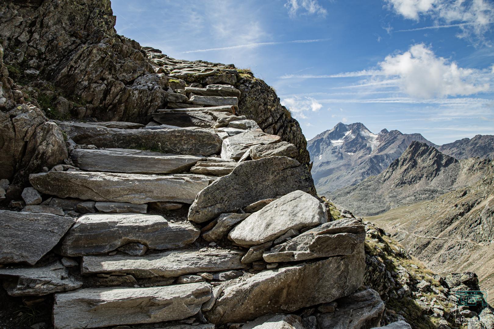 Steiler Auftieg