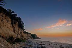 Steilküste am Abend.Hiddensee