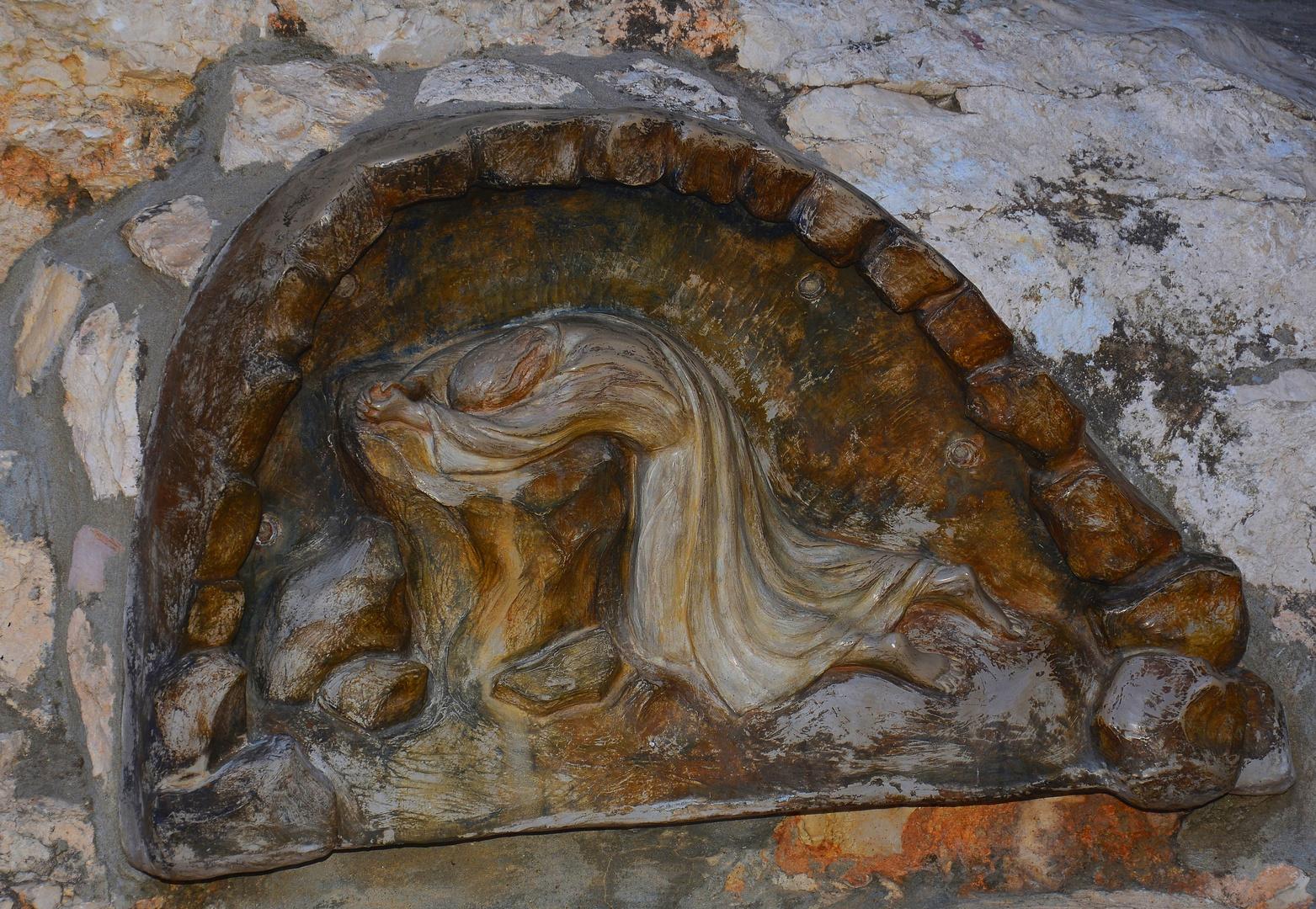 Stein Im Garten Gethsemane An Dem Jesus Vor Seiner Gefangennahme