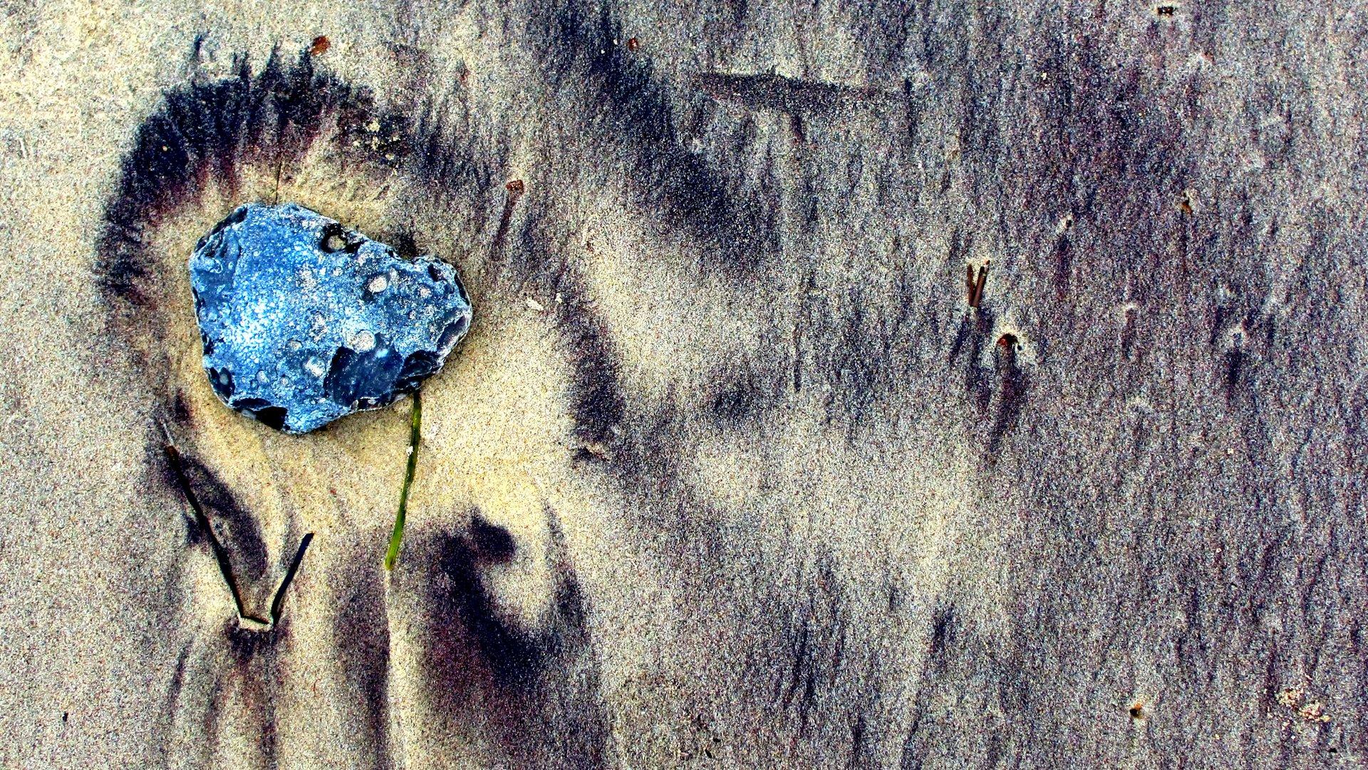 Stein im Sand.