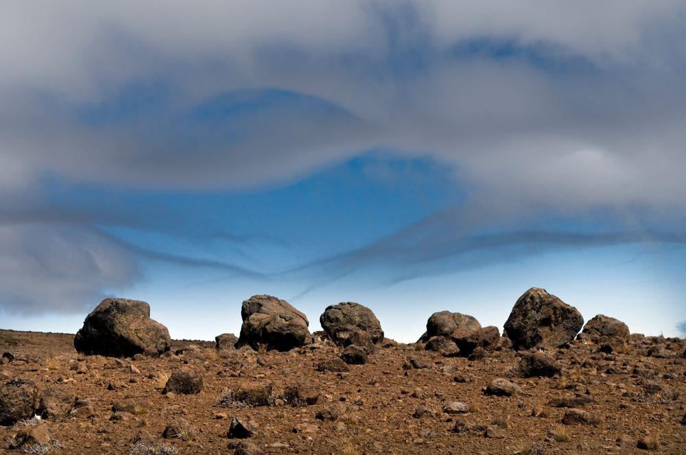 Steine am Kilimanjaro