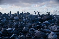 Steine am Strand von Puerto della Cruz (Teneriffa, Spanien)