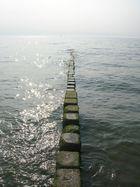 Steine im Meer, Strand von Westerland