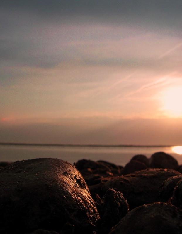 Steine in der Abendsonne