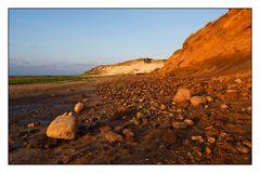 Steine und Kliff