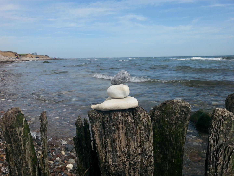 Steine, Wasser Wind und Meer
