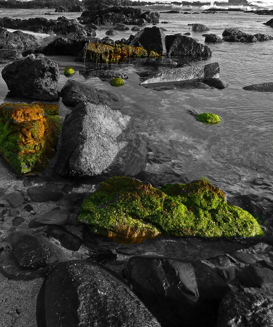 Steinformationen im Abendlicht