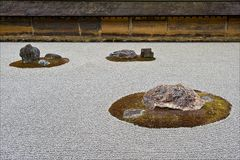 Steingarten im Ryoan-Ji Tempel, Kyoto