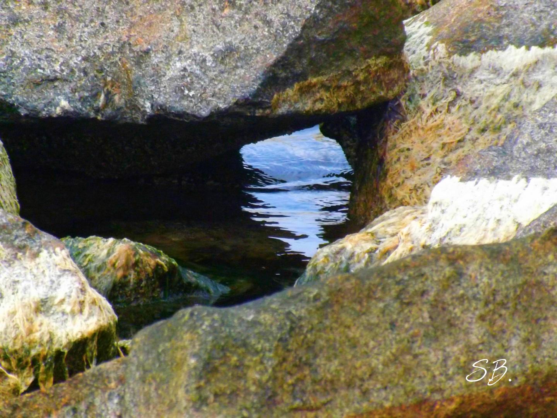 Steinhäufung an der Ostsee