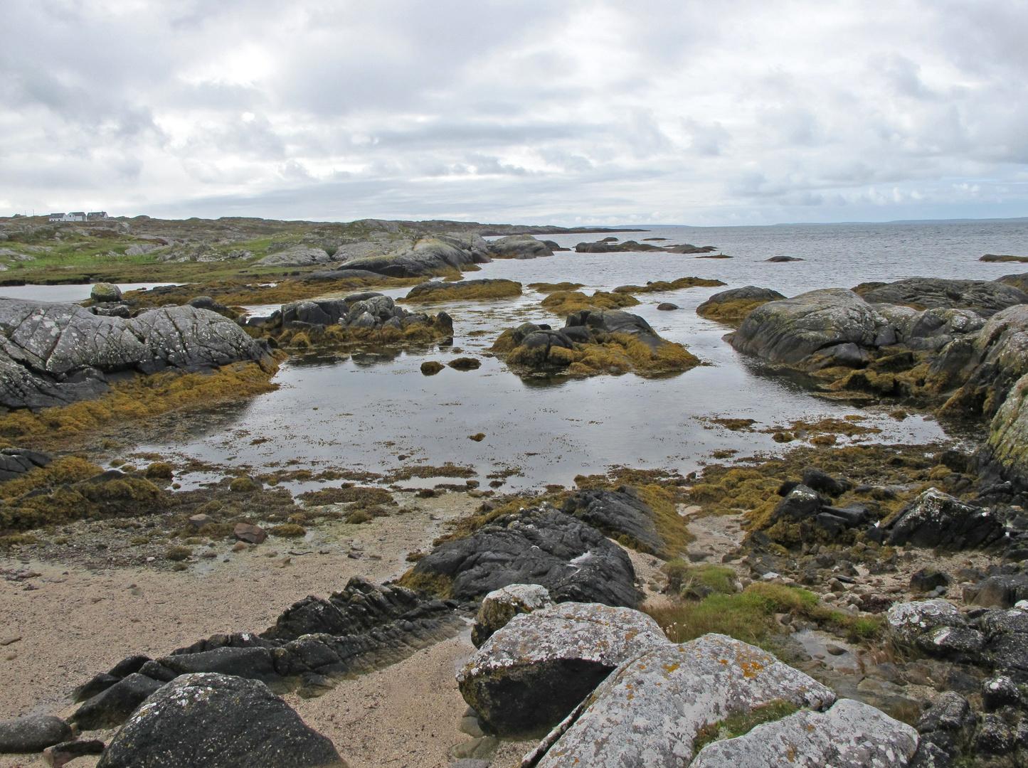 Steinige, Limestone, Landschaft in Irland.