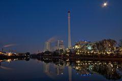 Steinkohlekraftwerk Herne bei Nacht
