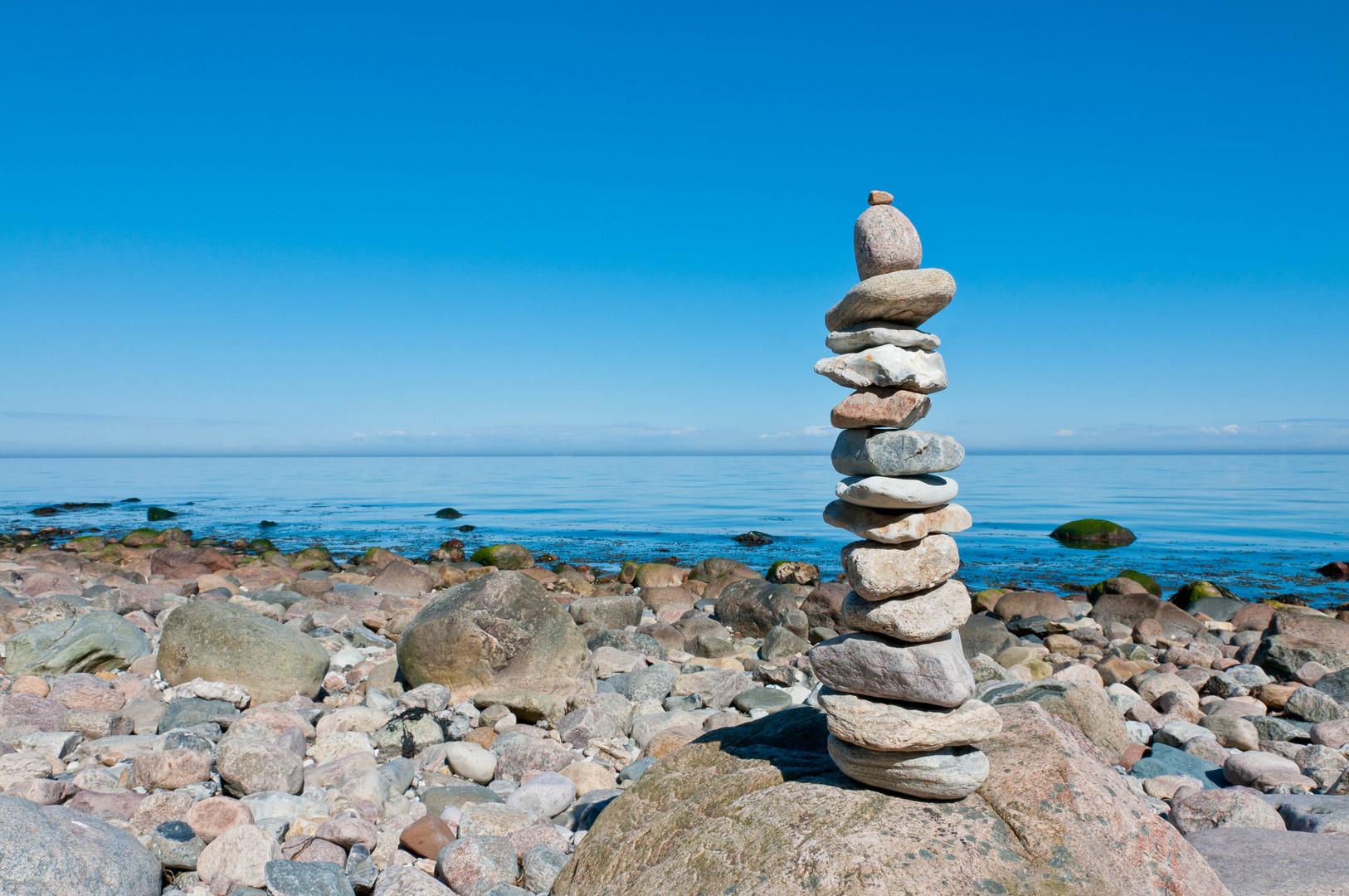 Steinmännchen an der Ostsee