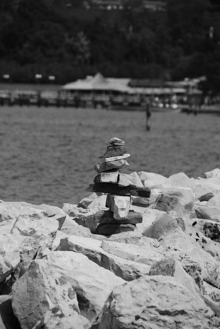 Steinmandl am Meer