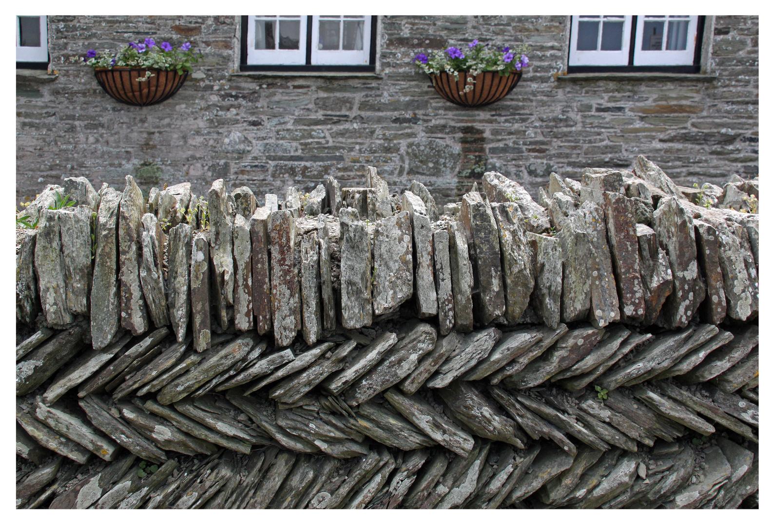 Steinmauer in Cornwall