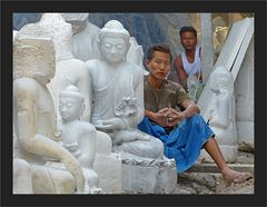 Steinmetze in Mandalay