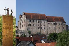 Stelen-Collage mit Cadolzburg