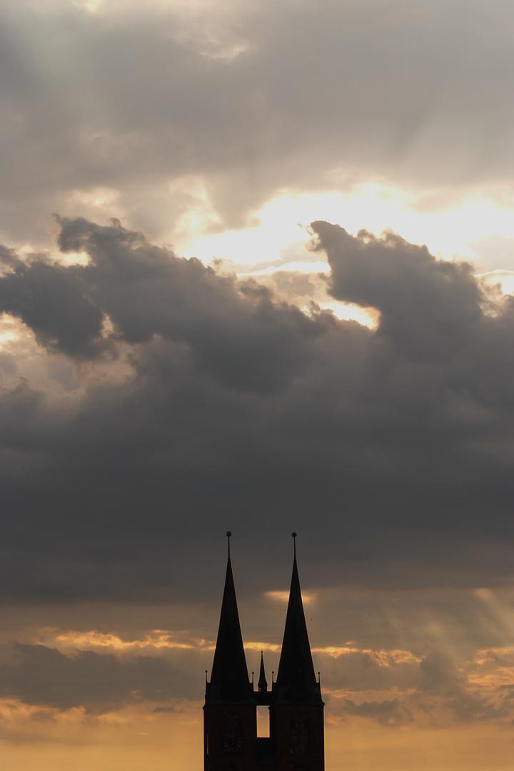 Stendal - Himmel über Marienkirche 1