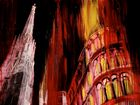 Stephansdom in red