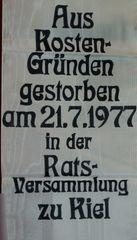 Sterbedatum der Kieler Strassenbahn