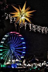 Stern in der Nacht- Lichter in der Stadt