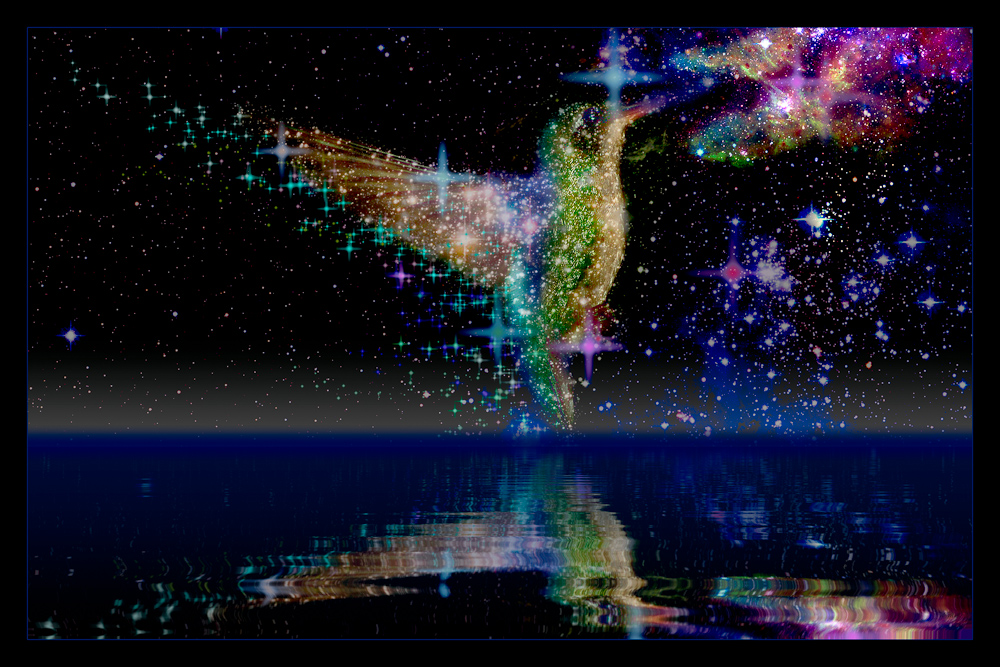 Sternbild Kolibri vom Meer der Zeit.