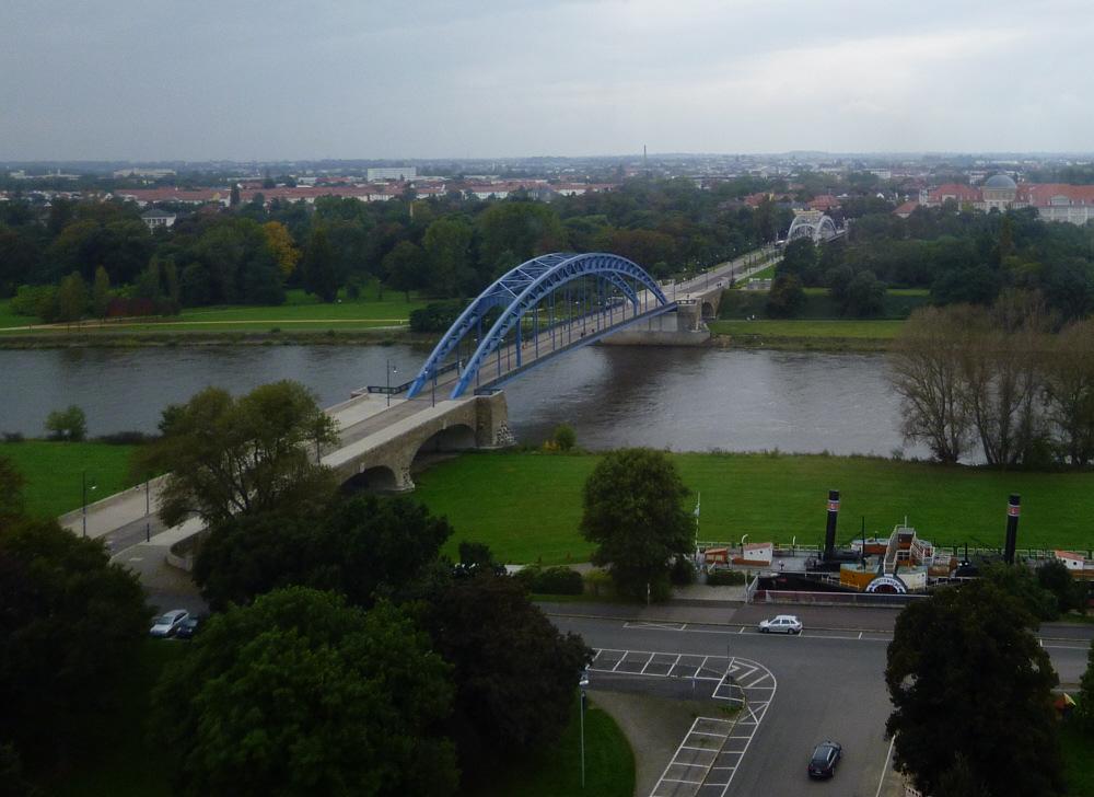 Sternbrücke vom Albinmüllerturm aus gesehen/ Magdeburg
