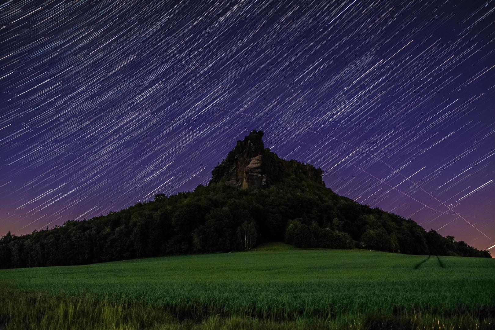Sterne über dem Lilienstein