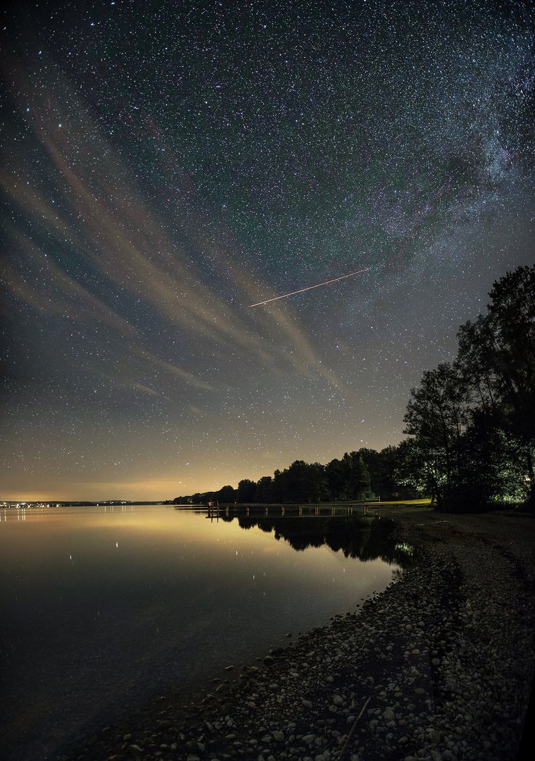 Sternenhimmel über dem Starnberger See