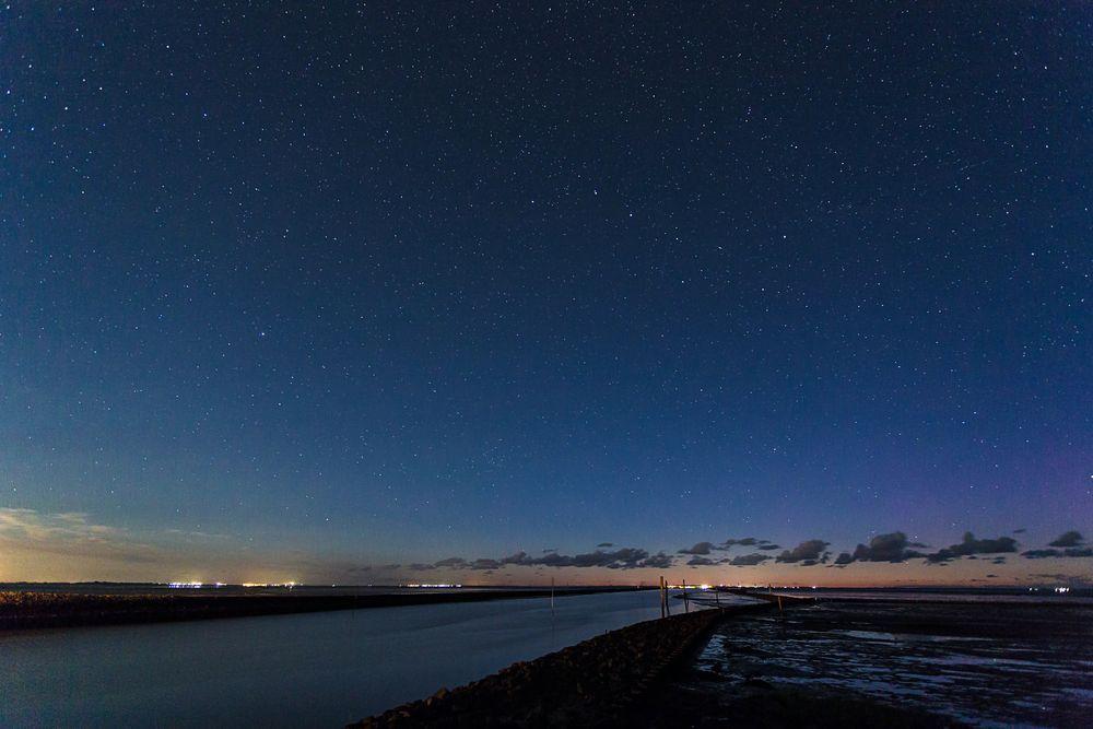 Sternenhimmel über dem Wattenmeer